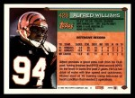 1994 Topps #428  Alfred Williams  Back Thumbnail