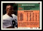 1994 Topps #365  Tim McGee  Back Thumbnail