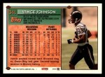 1994 Topps #341  Vance Johnson  Back Thumbnail