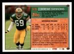 1994 Topps #326  Wayne Simmons  Back Thumbnail