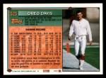 1994 Topps #323  Greg Davis  Back Thumbnail