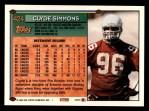 1994 Topps #424  Clyde Simmons  Back Thumbnail