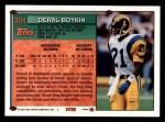1994 Topps #304  Deral Boykin  Back Thumbnail