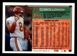 1994 Topps #314  Nick Lowery  Back Thumbnail