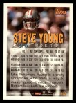 1994 Topps #613  Steve Young  Back Thumbnail