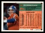 1994 Topps #540  John Elway  Back Thumbnail