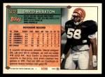 1994 Topps #502  David Braxton  Back Thumbnail