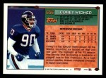 1994 Topps #656  Corey Widmer  Back Thumbnail
