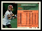 1994 Topps #643  Henry Ellard  Back Thumbnail