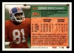 1994 Topps #488  Mike Pritchard  Back Thumbnail