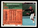 1994 Topps #657  Lee Johnson  Back Thumbnail