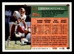 1994 Topps #519  Brian Mitchell  Back Thumbnail