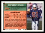 1994 Topps #481  Vincent Brisby  Back Thumbnail