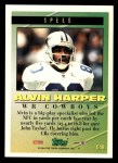 1994 Topps #548   -  Alvin Harper Tools of the Game Back Thumbnail