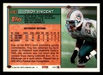 1994 Topps #490  Troy Vincent  Back Thumbnail