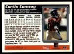 1995 Topps #66  Curtis Conway  Back Thumbnail