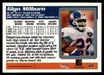1995 Topps #45  Glyn Milburn  Back Thumbnail