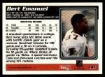 1995 Topps #141  Bert Emanuel  Back Thumbnail