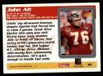 1995 Topps #91  John Alt  Back Thumbnail