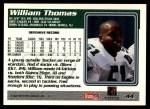 1995 Topps #44  William Thomas  Back Thumbnail