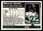1995 Topps #82  Marcus Turner  Back Thumbnail
