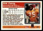 1995 Topps #49  Eric Curry  Back Thumbnail