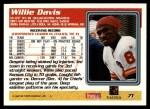 1995 Topps #71  Willie Davis  Back Thumbnail