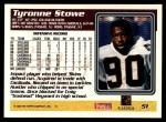 1995 Topps #51  Tyronne Stowe  Back Thumbnail