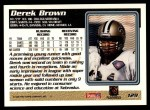 1995 Topps #129  Derek Brown  Back Thumbnail
