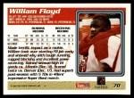 1995 Topps #70  William Floyd  Back Thumbnail