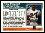 1995 Topps #131  Troy Vincent  Back Thumbnail