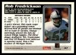 1995 Topps #97  Rob Fredrickson  Back Thumbnail