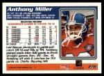 1995 Topps #278  Anthony Miller  Back Thumbnail
