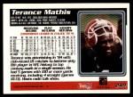 1995 Topps #249  Terance Mathis  Back Thumbnail