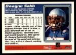 1995 Topps #256  Dwayne Sabb  Back Thumbnail
