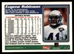 1995 Topps #172  Eugene Robinson  Back Thumbnail