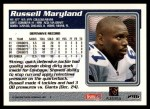 1995 Topps #296  Russell Maryland  Back Thumbnail