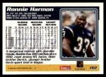 1995 Topps #162  Ronnie Harmon  Back Thumbnail