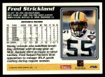 1995 Topps #156  Fred Strickland  Back Thumbnail