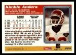 1995 Topps #269  Kimble Anders  Back Thumbnail