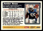1995 Topps #200  Junior Seau  Back Thumbnail