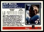 1995 Topps #184  Jeff Burris  Back Thumbnail