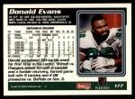 1995 Topps #177  Donald Evans  Back Thumbnail