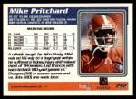 1995 Topps #292  Mike Pritchard  Back Thumbnail