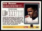 1995 Topps #188  Eric Swann  Back Thumbnail