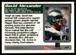 1995 Topps #181  David Alexander  Back Thumbnail