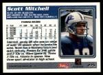 1995 Topps #275  Scott Mitchell  Back Thumbnail