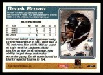 1995 Topps #454  Derek Brown  Back Thumbnail