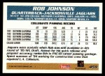 1995 Topps #459  Rob Johnson  Back Thumbnail