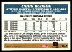 1995 Topps #463  Chris Hudson  Back Thumbnail